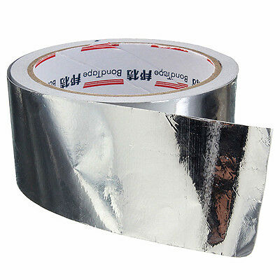 48mm X 17m Roll Silver Aluminium Foil Adhesive Sealing Tape Heating Duct Repairs