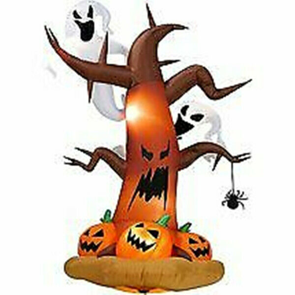 240cm Tree Halloween Inflatables Dead Tree Ghost Pumpkins LED Lights Decor