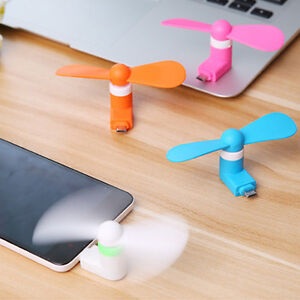Mini Fan MIcro USB et Apple Iphone 7 Samsung Note 7