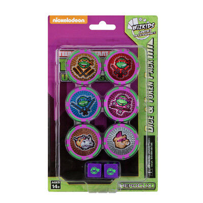 WizKids - HeroClix - Teenage Mutant Ninja Turtles - Unplugged Dice & Token Set