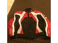 Rayven Stinger Sports textile jacket in red white & black, size Small