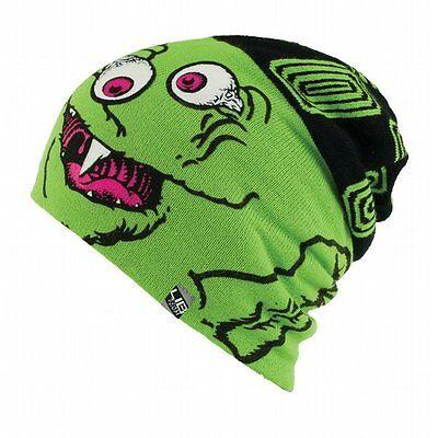 a614e3ca4a8 LIB TECH surf skateboard snowboard BOOGER BEANIE green YOUTH ~NEW w tags~!!