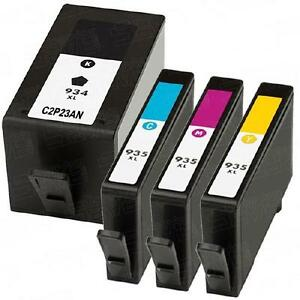HP 934XL Black (C2P23AN) and HP 935XL Cyan, Magenta, Yellow (C2PxxAN) Remanufactured Ink Cartridge Combo Pack