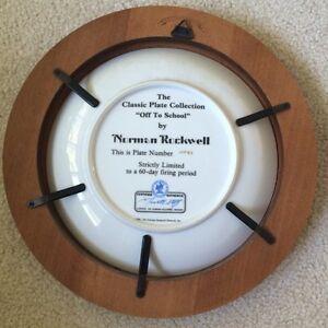 Set of Norman Rockwell framed plates Regina Regina Area image 3