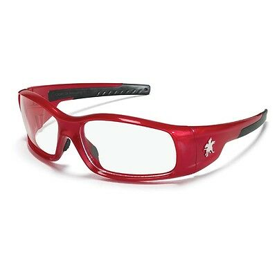 Crews Sr130 Mcr Swagger Safety Glasses Red Frame Clear Lens