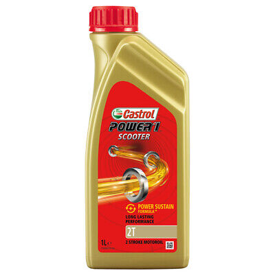 Castrol 14E960 Power 1 Scooter 1L 2T Motorcycle Engine Oil 2 Stroke
