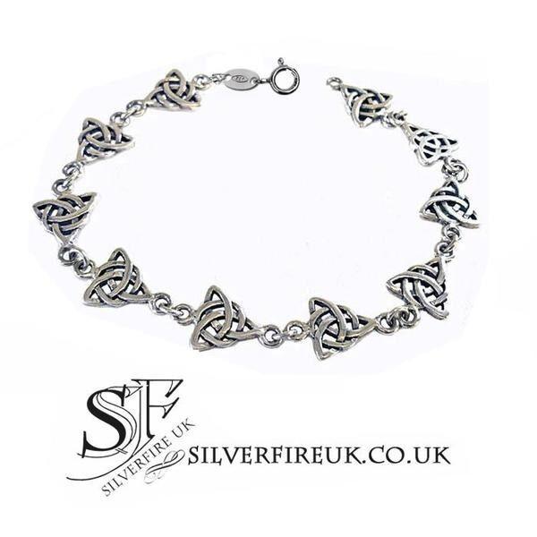 Brand New Sterling Silver Celtic knot bracelet (Silverfire)