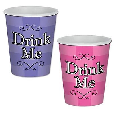8 Alice in Wonderland Birthday 9 Ounce 9oz Hot or Cold Paper Cups Party Supplies](Alice In Wonderland Birthday Supplies)
