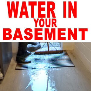 WATER IN YOUR BASEMENT - WATERPROOFING SERVICES IN PETERBOROUGH Peterborough Peterborough Area image 1