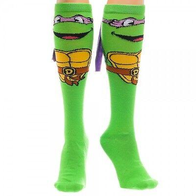 Donatello Teenage Mutant Ninja Turtles 1 Pair Knee High Socks TMNT NEW Mask - Ninja Turtle Knee High Socks
