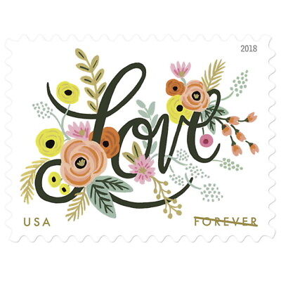 USPS New Love Flourishes Pane of 20
