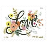 USPS New Love Flourishes Pane of 20