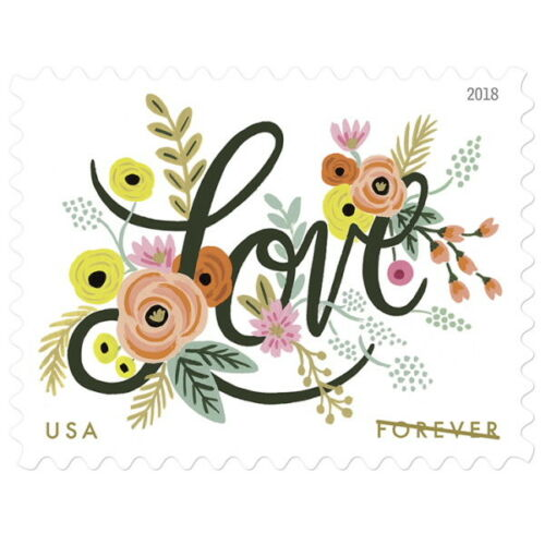 Купить USPS New Love Flourishes Pane of 20