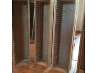 Five Wooden CD Racks