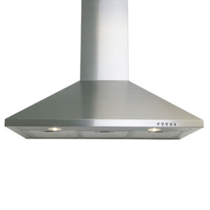 30-inch Wall Mounted Range Hood, Stainless, NEW