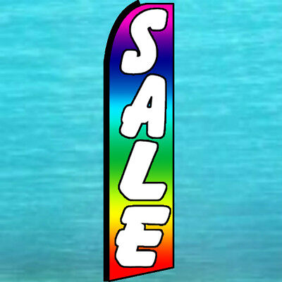 Sale Flutter Flag Tall Curved Top Rainbow Advertising Feather Swooper Banner