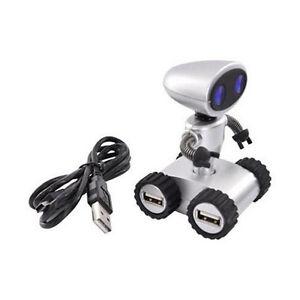 Robot Mini USB Hub PC Mac Compatible 4 Ports Desk Office
