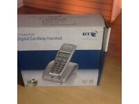 BT Digital Cordless Phone Handset in silver Unused in the box New