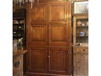 Vintage pine press cupboard