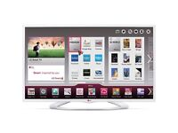 LG 47 inch WHITE Smart LED TV Freeview HD WiFi