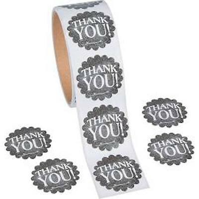 Bridal Shower Thank You Gifts (25 Chalkboard Thank you stickers gift wedding envelope seal graduation)