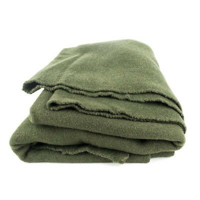 32412d8dd7f8e Authentic French Army 100% Wool Blanket olive drab green blanket Free  Shipping