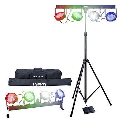 Kam LED Partybar V2 LED DMX Portable Stage Band Par kit DJ Disco Lighting System