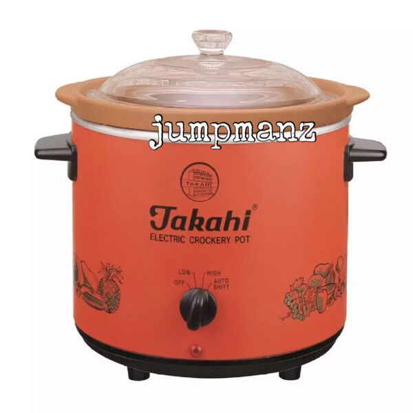 Takahi 2404 Slow Cooker 3.5L Red (FREE DELIVERY, Brand New)