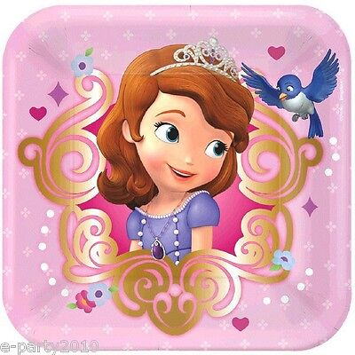 Sofia The First Birthday Supplies (SOFIA THE FIRST SMALL PINK PAPER PLATES (8) ~ Birthday Party Supplies)