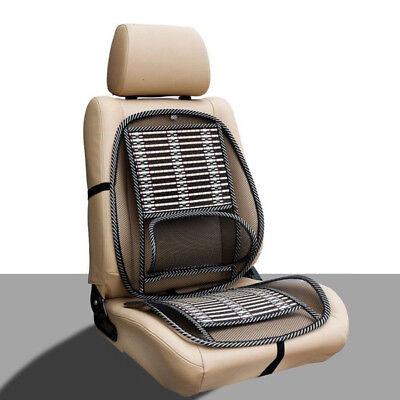 Mesh Bamboon Lumbar Brace Back Support Pad Waist Massage Auto Seat Cushion (Best Home Back Massager)