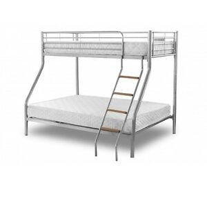 Metal bunk bed with mattreses