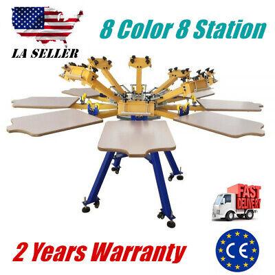 8 Color 8 Station Silk Screen Printing Machine Screen Press T-shirt Printing Diy