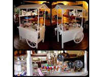 Victorian Sweet Cart for hire, weddings, parties etc.