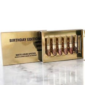 Birthday edition Kylie set matte liquid lipstick new