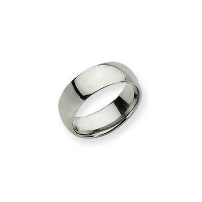Titanium 8mm Band Ring Men/Women Plain Domed Comfort Wedding Band Ring.Size 6-15