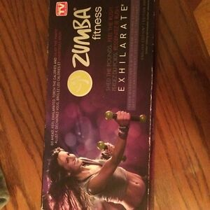 Zumba DVD set with weights  Peterborough Peterborough Area image 3
