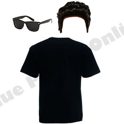 CK N ROLL 1950S FANCY DRESS COSTUME OUTFIT TOP WIG GLASSES (Grease Kostüm Danny)