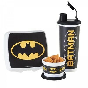 Tupperware Batman and Beauty and the Beast Lunch Sets