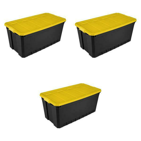 Plastic Storage Containers Large 50 Gallon Stacking Bin Box