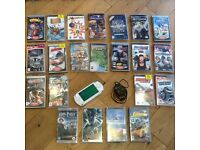 Sony PSP with charger and games/video bundle