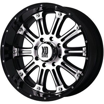 20 Inch Black Wheels Rims Chevy 2500 3500 Dodge RAM Ford Truck 8 Lug Hummer H2