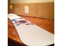 Girls Santa Cruz snowboard, size 147, almost brand new.