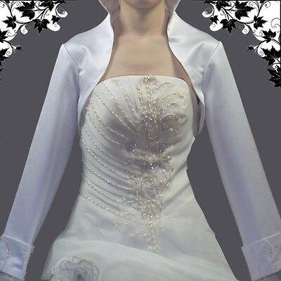 Braut Bolerojäckchen,Pailletten, Gr.40-44,B-BD-XL Weiss