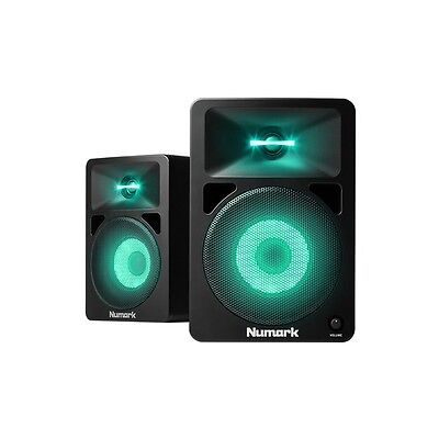 Numark N-Wave 580L Monitor DJ Studio Speakers with LED Lighting Effect