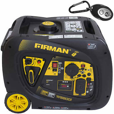 Firman W03083 - Whisper Series 3000 Watt Electric Start Inverter Generator W...