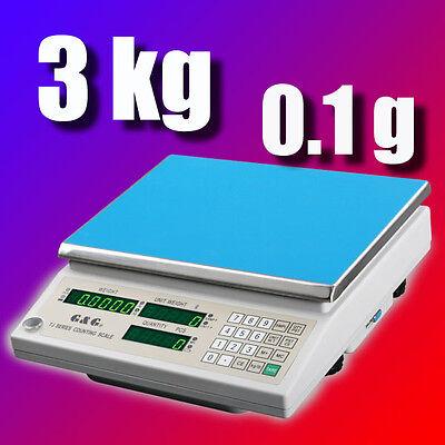 G&G TJ 3kg/0.1g Präzisionswaage Zählwaage Digital-waage