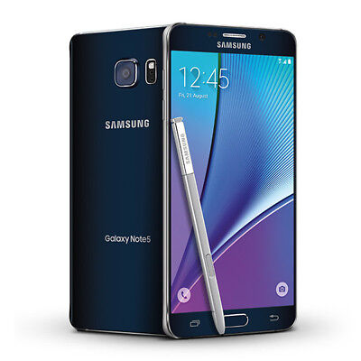Samsung Galaxy Note 5 N920T 32GB Android 3G/4G LTE Unlocked Mobile Phone (Black)