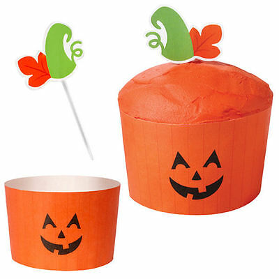 Pumpkin Jack O Lantern Halloween Cupcake Combo Pack from Wilton #7093 - NEW ()