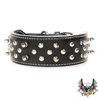 Premium Quality Leather Spiked and Studded Dog Collar[new]