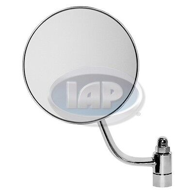 SIDE MIRROR SET ROUND CHROME (PAIR) LEFT & RIGHT VW BUG 49-67 113857513A / (Left Bug)